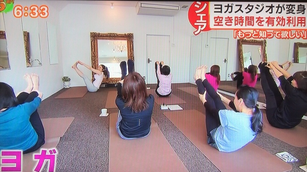 メディア取材歓迎・新聞掲載・テレビ取材・美容と健康ヨガ教室・スタジオ広島